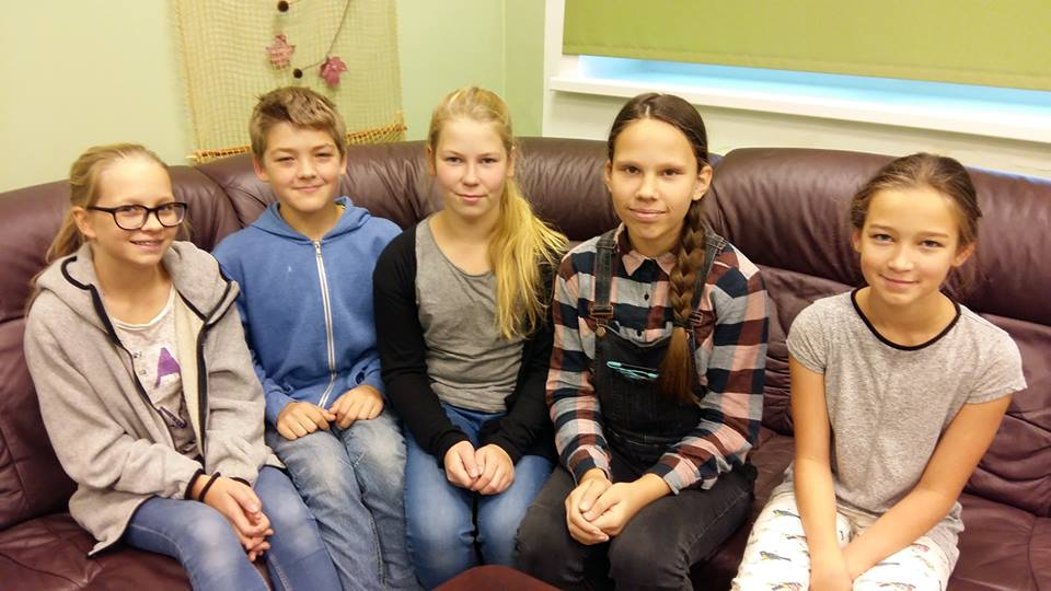 Õpioskajad: Eliise, Hans-Kristjan, Berit, ja Hanna.
