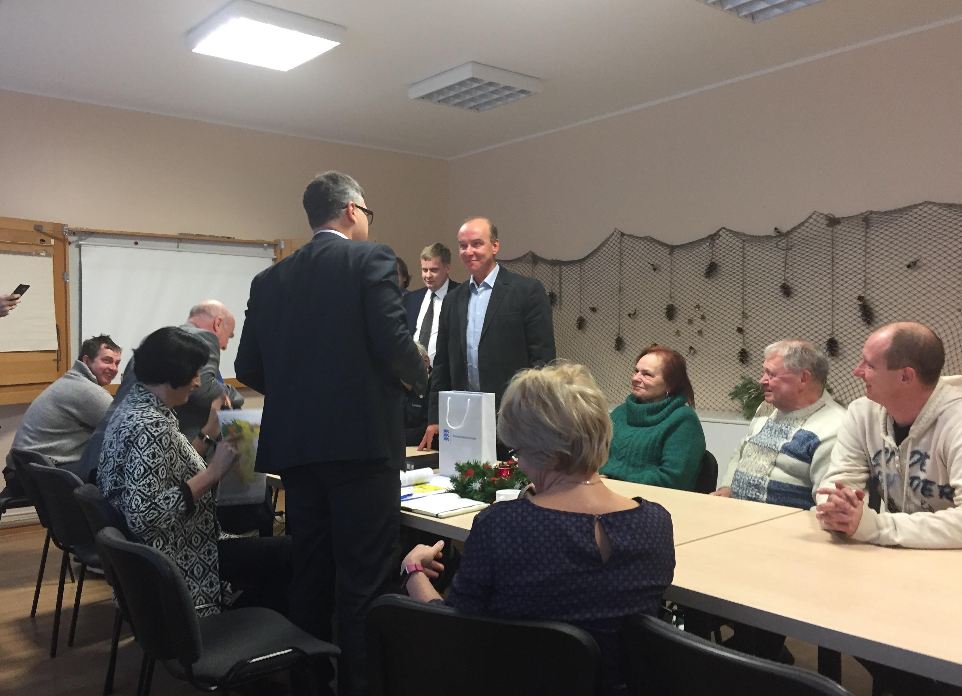 Kohtumine Mihhail Korbiga Kilingi-Nõmme Klubis. FOTO: Auris Aleksandrov